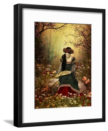 A Woman Reading A Book-Atelier Sommerland-Framed Premium Giclee Print