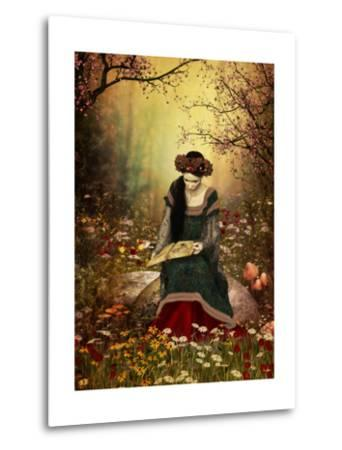 A Woman Reading A Book-Atelier Sommerland-Metal Print