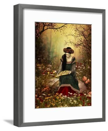 A Woman Reading A Book-Atelier Sommerland-Framed Art Print