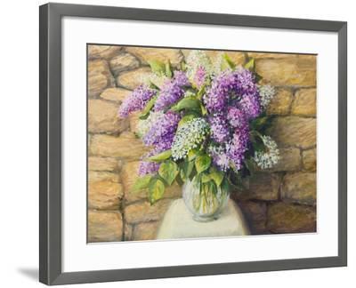 Still Life With Lilacs-kirilstanchev-Framed Art Print
