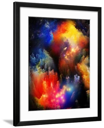 Unfolding Of Fractal Dreams-agsandrew-Framed Art Print