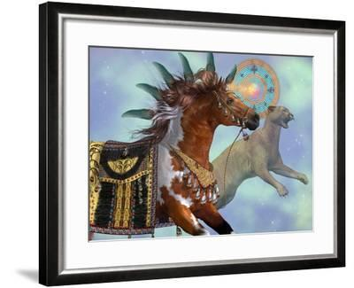 Year Of The Cougar Horse-Corey Ford-Framed Art Print