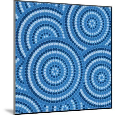 Aboriginal Abstract Art-Piccola-Mounted Art Print