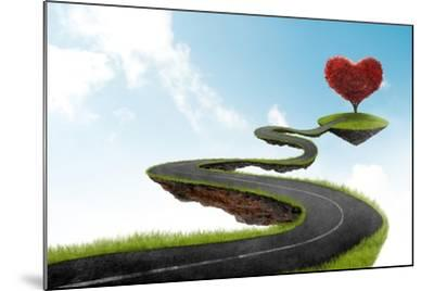 The Road To Heart Tree-jordygraph-Mounted Art Print