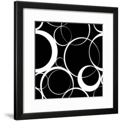 Seamless Monochrome Design-Maksim Krasnov-Framed Art Print