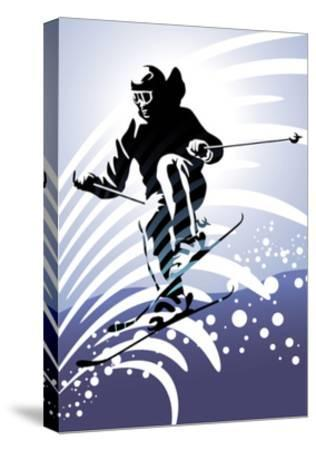Sport Set: Downhill Skiing-UltraPop-Stretched Canvas Print