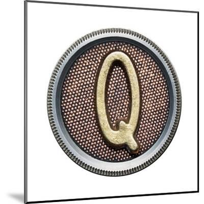 Metal Button Alphabet Letter-donatas1205-Mounted Art Print