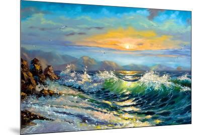 The Storm Sea On A Decline-balaikin2009-Mounted Premium Giclee Print