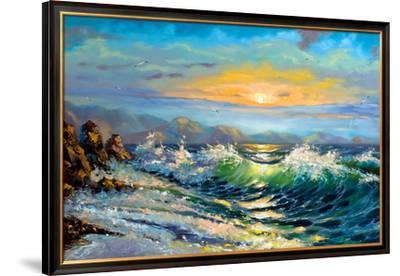 The Storm Sea On A Decline-balaikin2009-Framed Premium Giclee Print