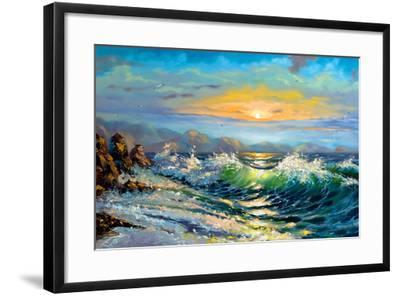 The Storm Sea On A Decline-balaikin2009-Framed Art Print