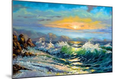 The Storm Sea On A Decline-balaikin2009-Mounted Art Print