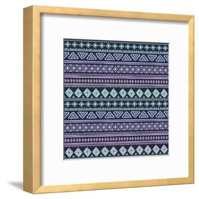 Abstract Tribal Pattern-transiastock-Framed Art Print