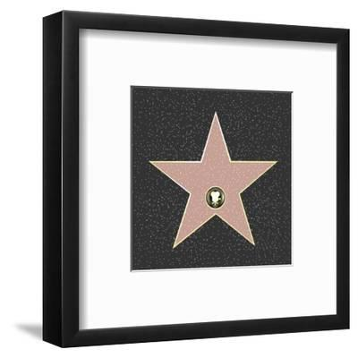 Walk Of Fame Type Star-barbaliss-Framed Art Print