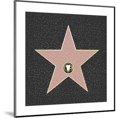 Walk Of Fame Type Star-barbaliss-Mounted Art Print