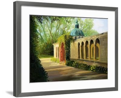 In The Gardens Of Sanssouci-kirilstanchev-Framed Art Print