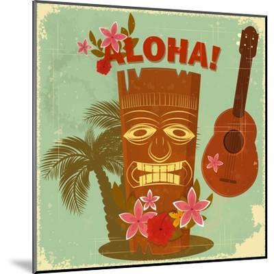 Vintage Hawaiian Postcard-elfivetrov-Mounted Art Print