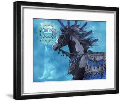 Year Of The Wolf Horse-Corey Ford-Framed Art Print