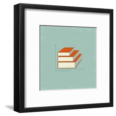Vintage Infographics Books-elfivetrov-Framed Art Print