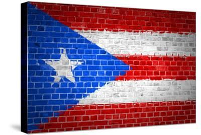 Brick Wall Puerto Rico-Tonygers-Stretched Canvas Print
