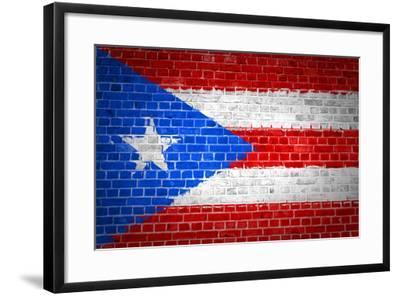 Brick Wall Puerto Rico-Tonygers-Framed Art Print