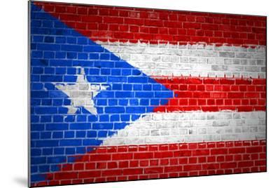 Brick Wall Puerto Rico-Tonygers-Mounted Art Print