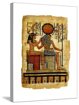 Ancient Egyptian Parchment-Maugli-l-Stretched Canvas Print