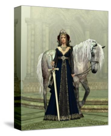 Lady Of The Castle-Atelier Sommerland-Stretched Canvas Print