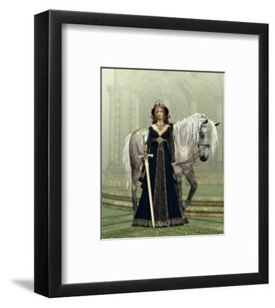 Lady Of The Castle-Atelier Sommerland-Framed Art Print