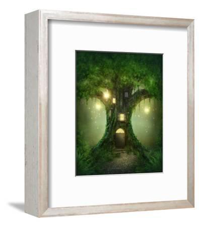 Fantasy Tree House-egal-Framed Art Print