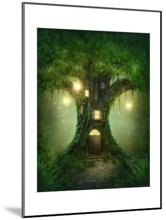 Fantasy Tree House-egal-Mounted Art Print
