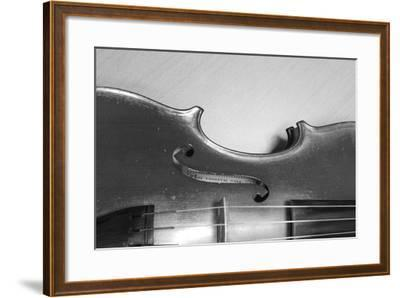 Black White Violin-ammza12-Framed Art Print