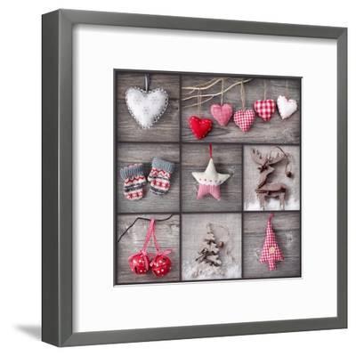 Christmas Collage-egal-Framed Art Print