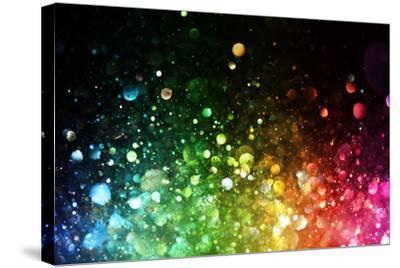 Rainbow Of Lights-SSilver-Stretched Canvas Print