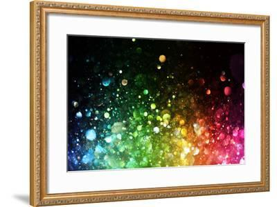 Rainbow Of Lights-SSilver-Framed Premium Giclee Print