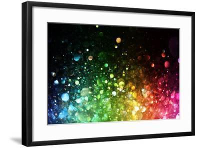 Rainbow Of Lights-SSilver-Framed Art Print