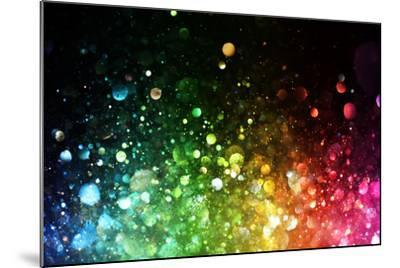 Rainbow Of Lights-SSilver-Mounted Art Print