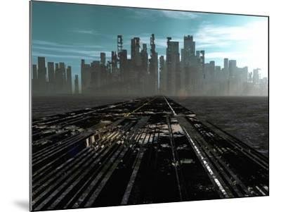 Road To Dead City-rolffimages-Mounted Art Print