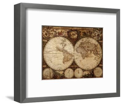 Vintage Map-Kuzma-Framed Art Print