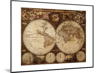Vintage Map-Kuzma-Mounted Art Print