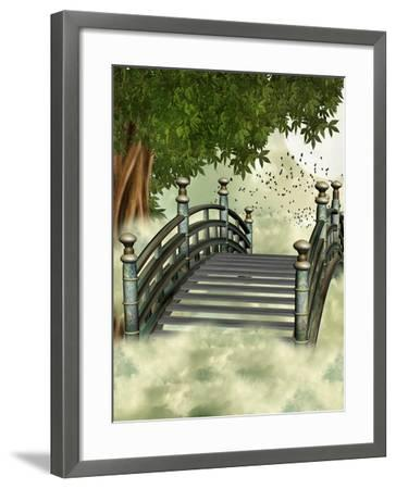 Fantasy Bridge-justdd-Framed Art Print