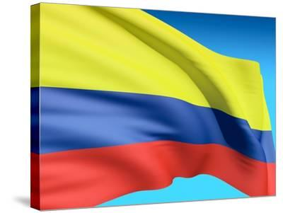 Flag Of Colombia-bioraven-Stretched Canvas Print