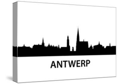 Skyline Antwerp-unkreatives-Stretched Canvas Print