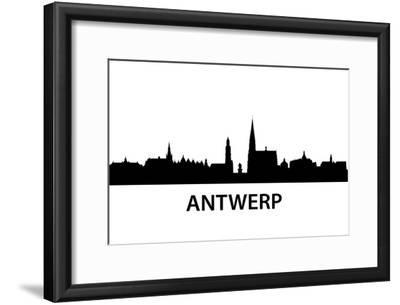 Skyline Antwerp-unkreatives-Framed Art Print