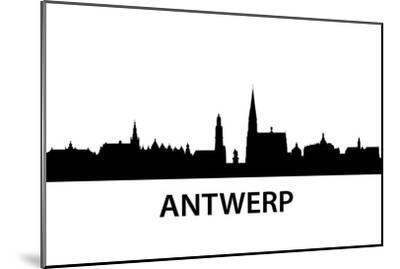 Skyline Antwerp-unkreatives-Mounted Art Print