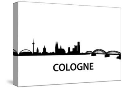 Skyline Cologne-unkreatives-Stretched Canvas Print