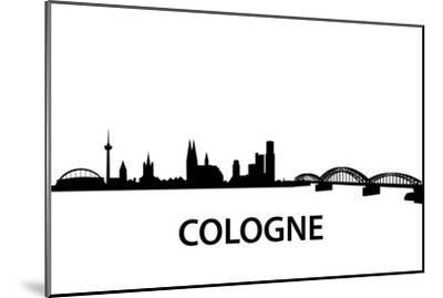 Skyline Cologne-unkreatives-Mounted Art Print
