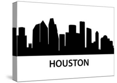 Skyline Houston-unkreatives-Stretched Canvas Print