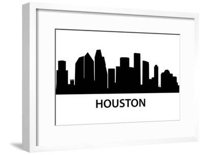 Skyline Houston-unkreatives-Framed Art Print