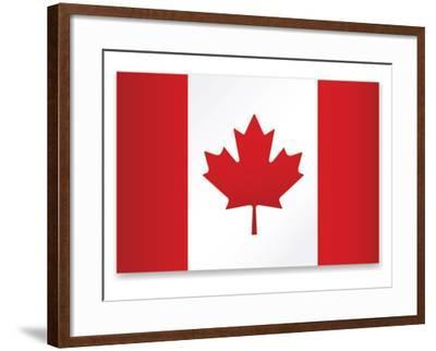 Canada Flag-ekler-Framed Art Print