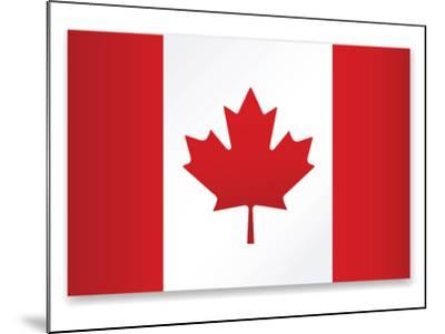 Canada Flag-ekler-Mounted Art Print
